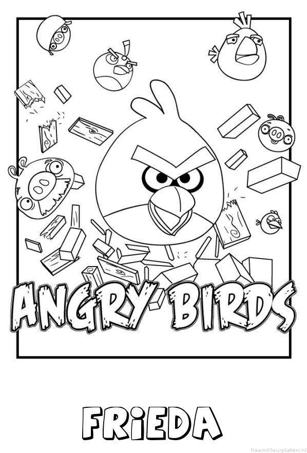 Frieda angry birds kleurplaat