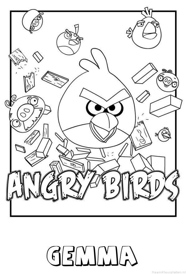 Gemma angry birds kleurplaat