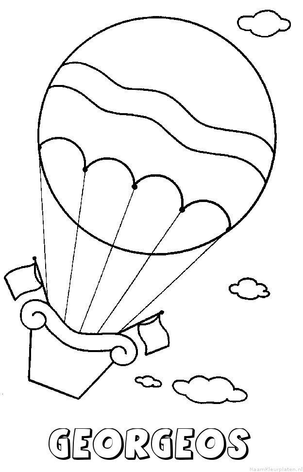 Georgeos luchtballon kleurplaat
