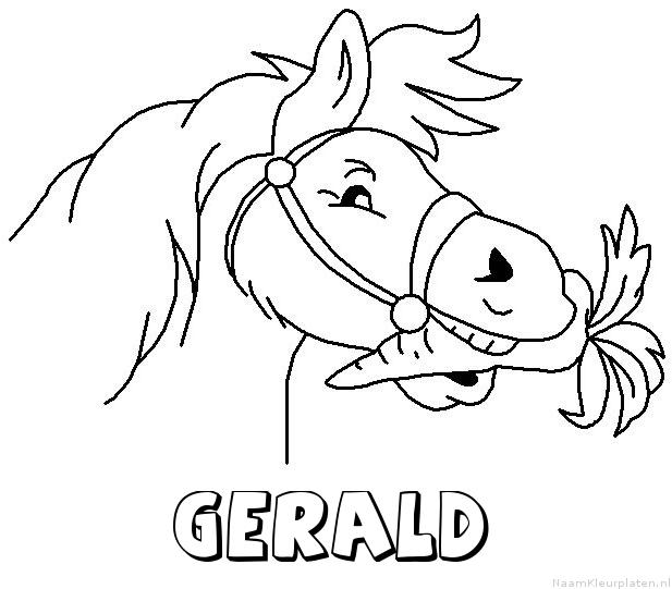 Gerald paard van sinterklaas kleurplaat