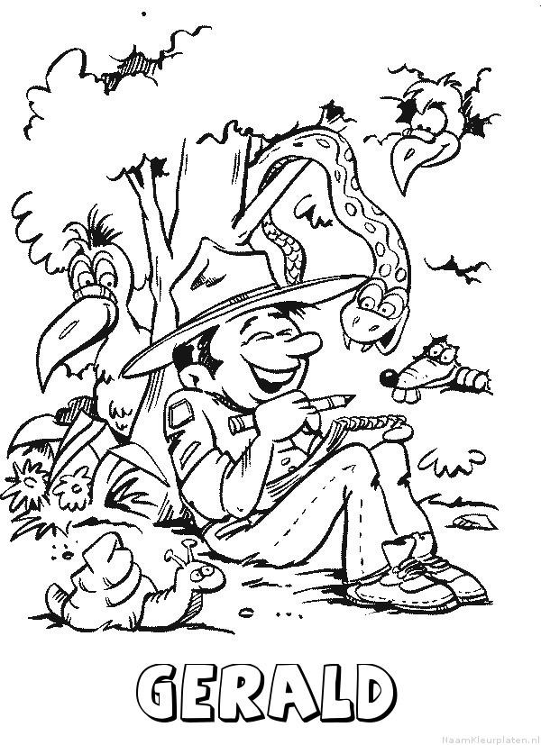 Gerald scouting kleurplaat