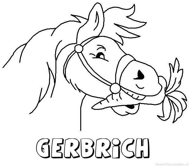 Gerbrich paard van sinterklaas kleurplaat