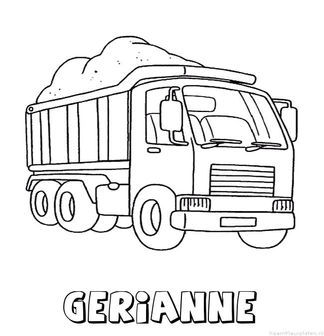 Gerianne vrachtwagen kleurplaat