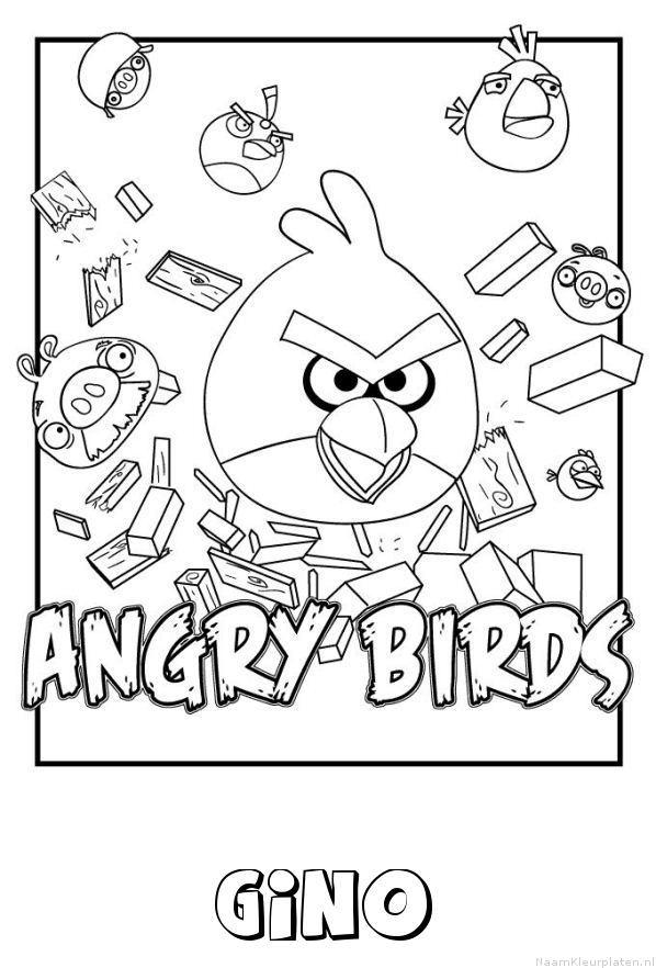 Gino angry birds kleurplaat