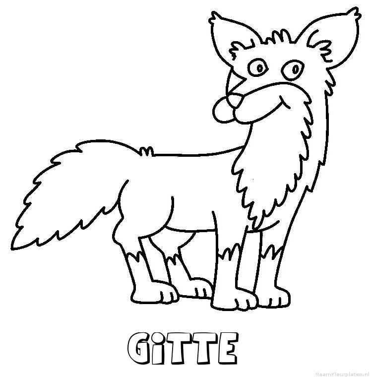Gitte vos kleurplaat