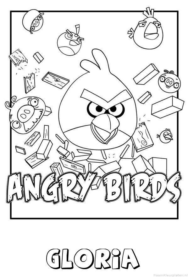 Gloria angry birds kleurplaat