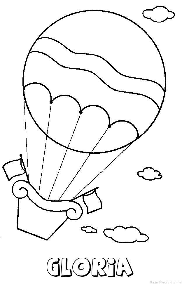 Gloria luchtballon kleurplaat