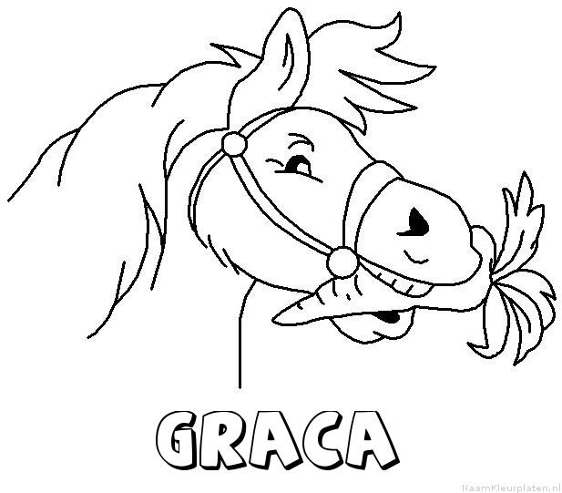 Graca paard van sinterklaas kleurplaat