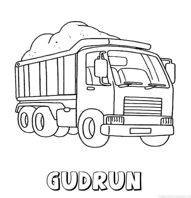 Gudrun vrachtwagen kleurplaat