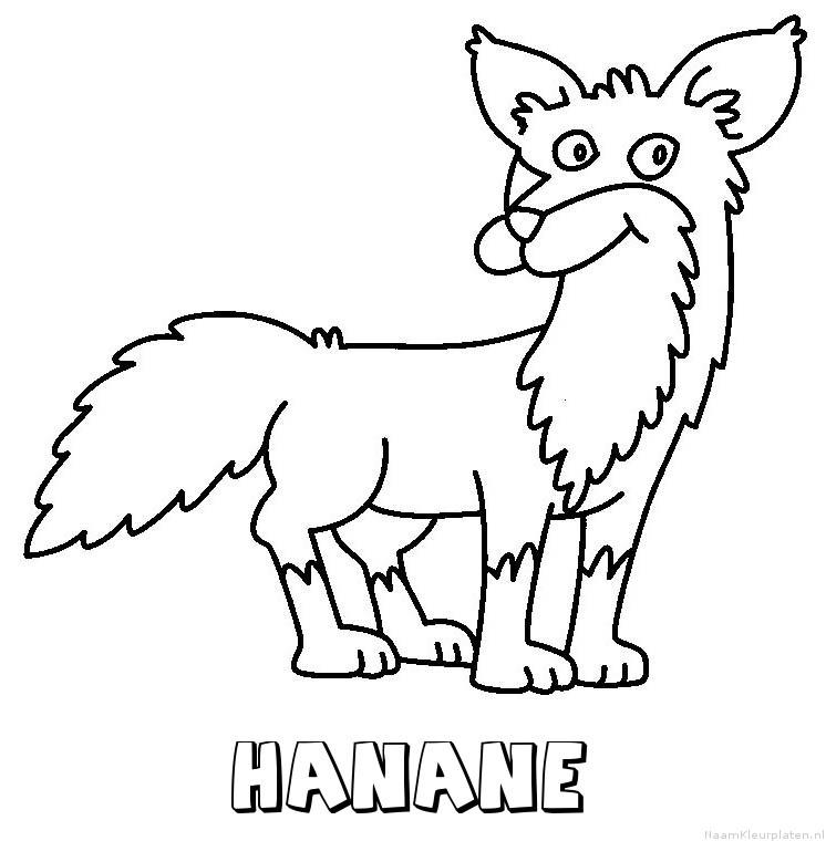 Hanane vos kleurplaat