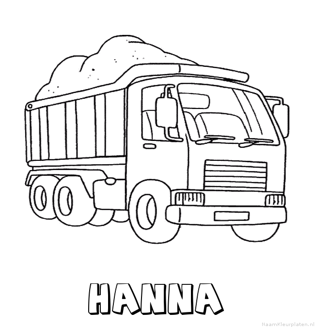 Hanna vrachtwagen kleurplaat