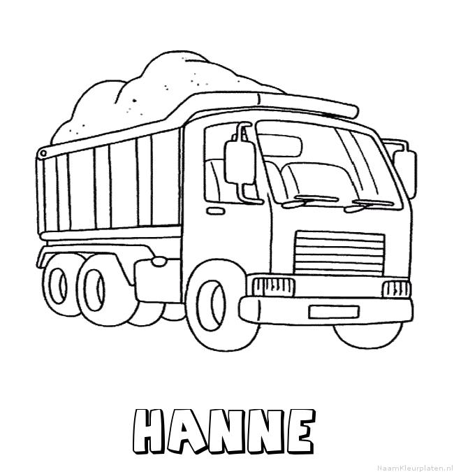 Hanne vrachtwagen kleurplaat