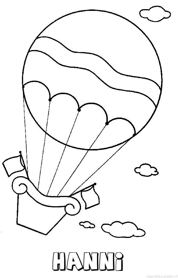 Hanni luchtballon kleurplaat