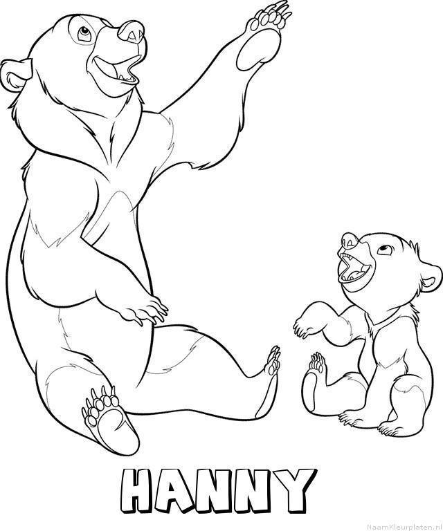 Hanny brother bear kleurplaat