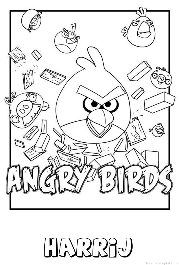 Harrij angry birds kleurplaat