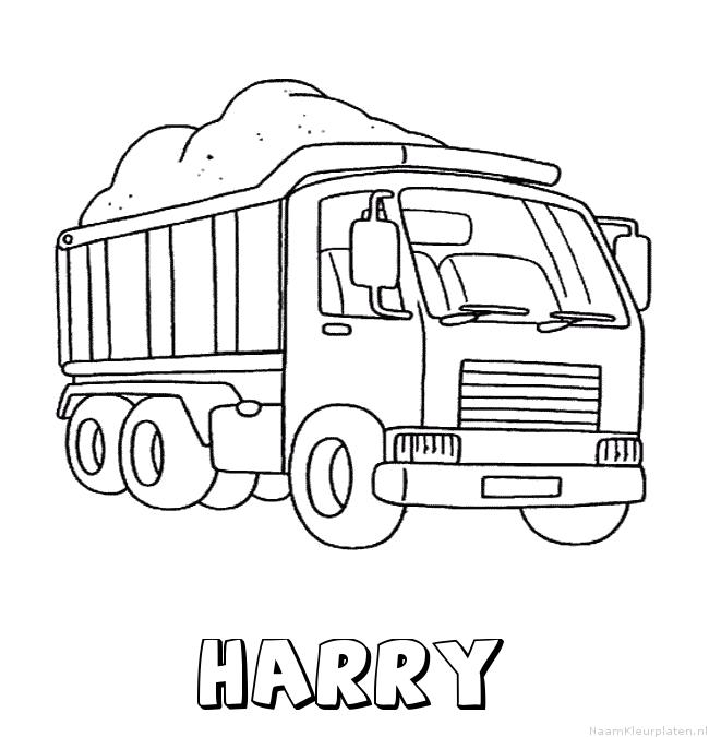 Harry vrachtwagen kleurplaat