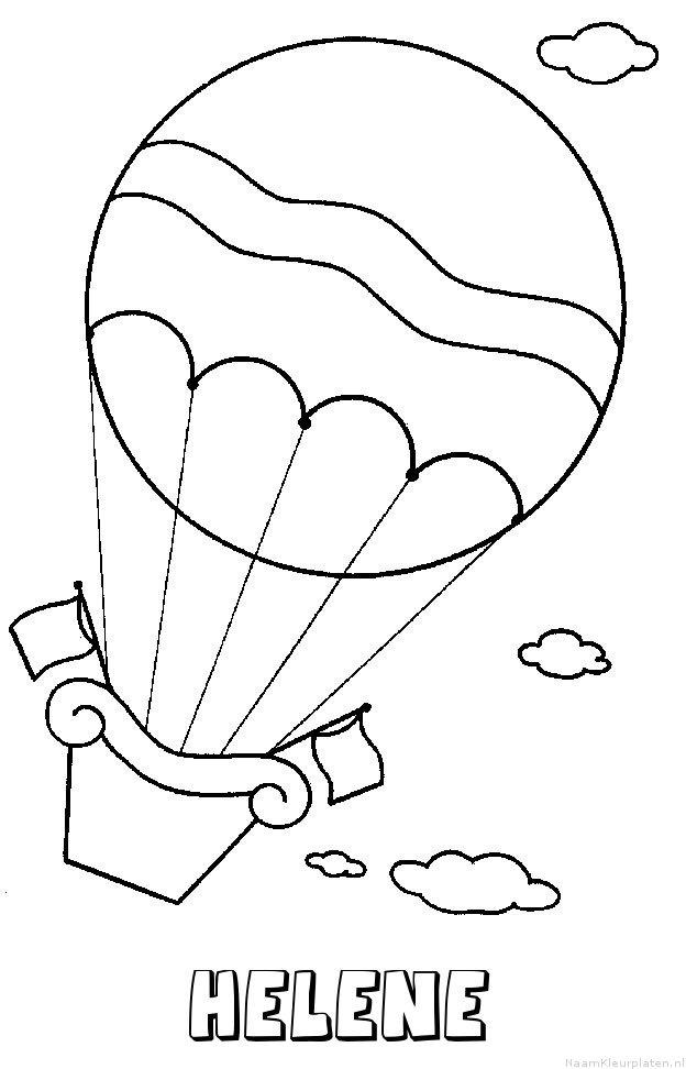 Helene luchtballon kleurplaat