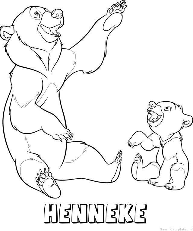 Henneke brother bear kleurplaat
