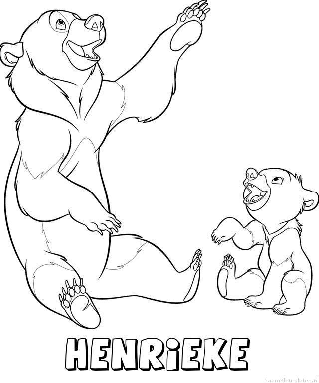 Henrieke brother bear kleurplaat