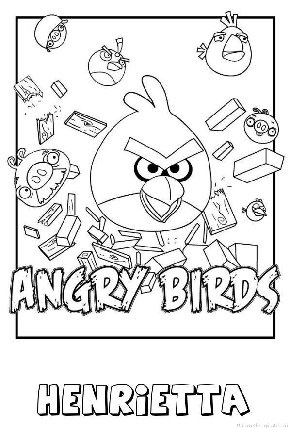 Henrietta angry birds kleurplaat
