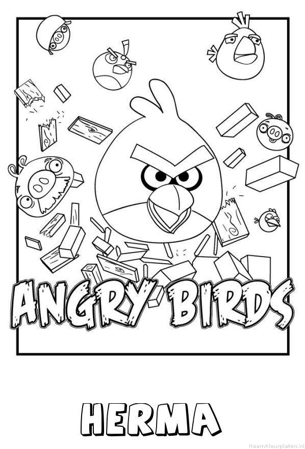 Herma angry birds kleurplaat