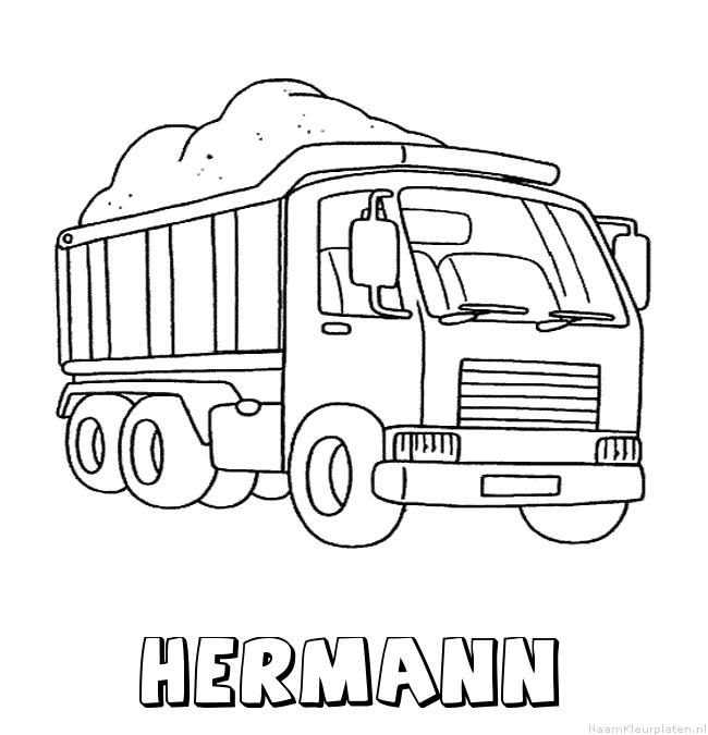 Hermann vrachtwagen kleurplaat