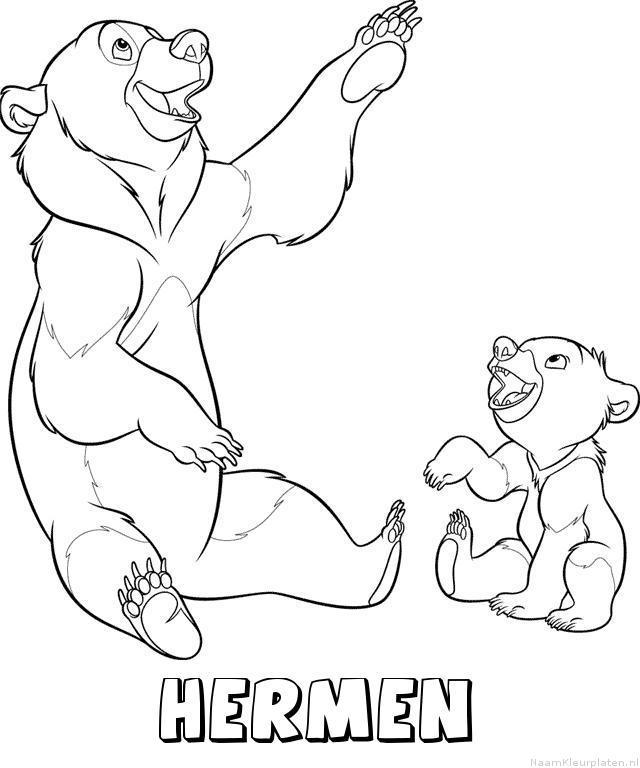 Hermen brother bear kleurplaat