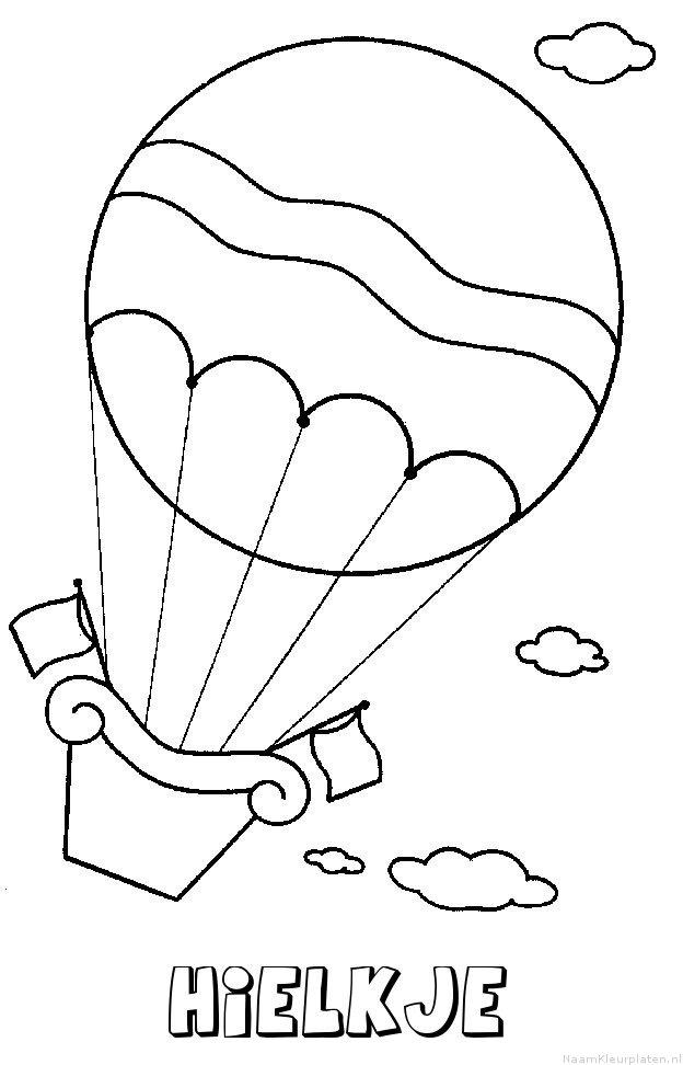 Hielkje luchtballon kleurplaat