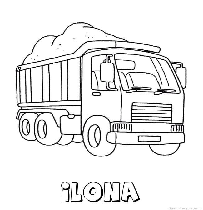 Ilona vrachtwagen kleurplaat