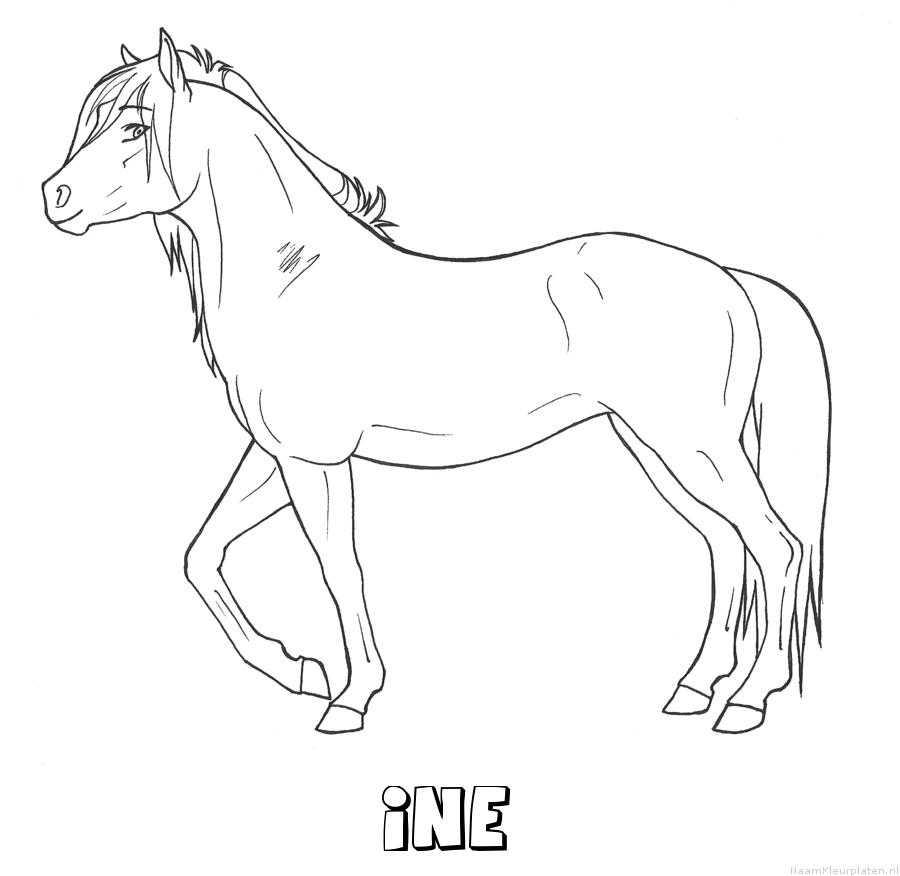 Ine paard kleurplaat