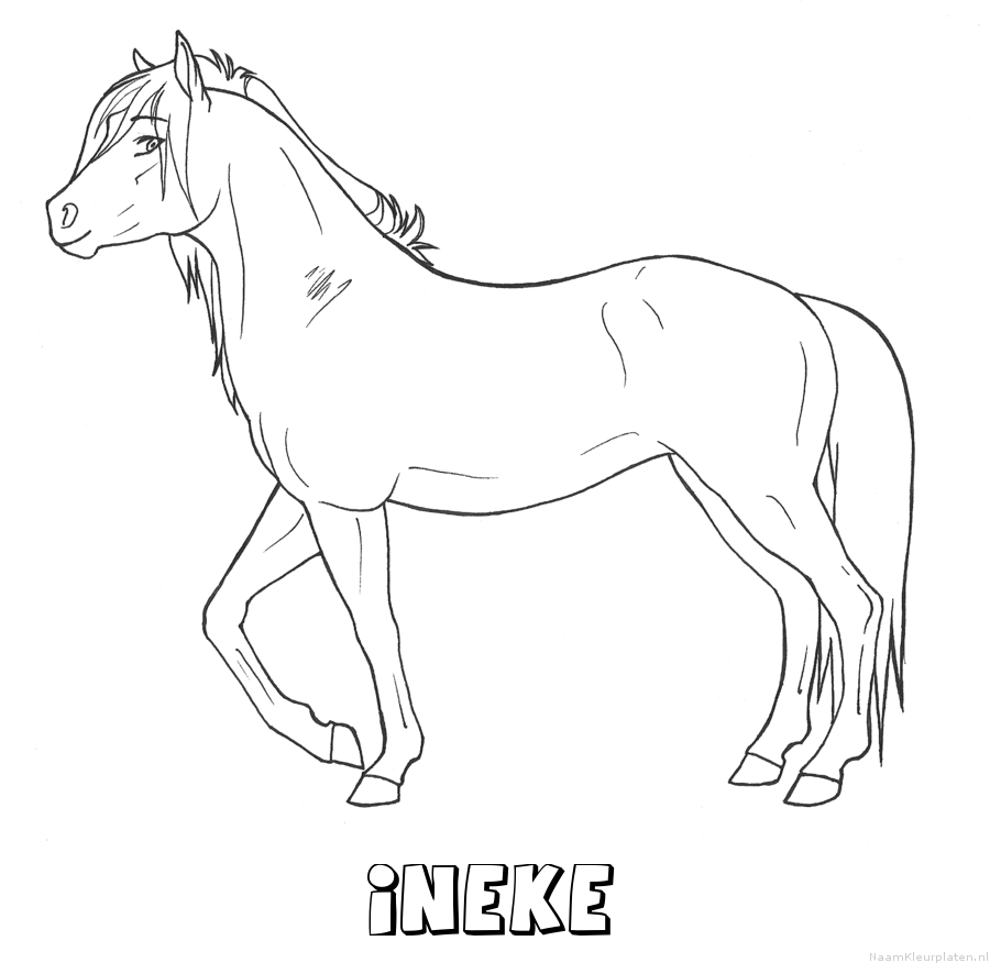 Ineke paard kleurplaat