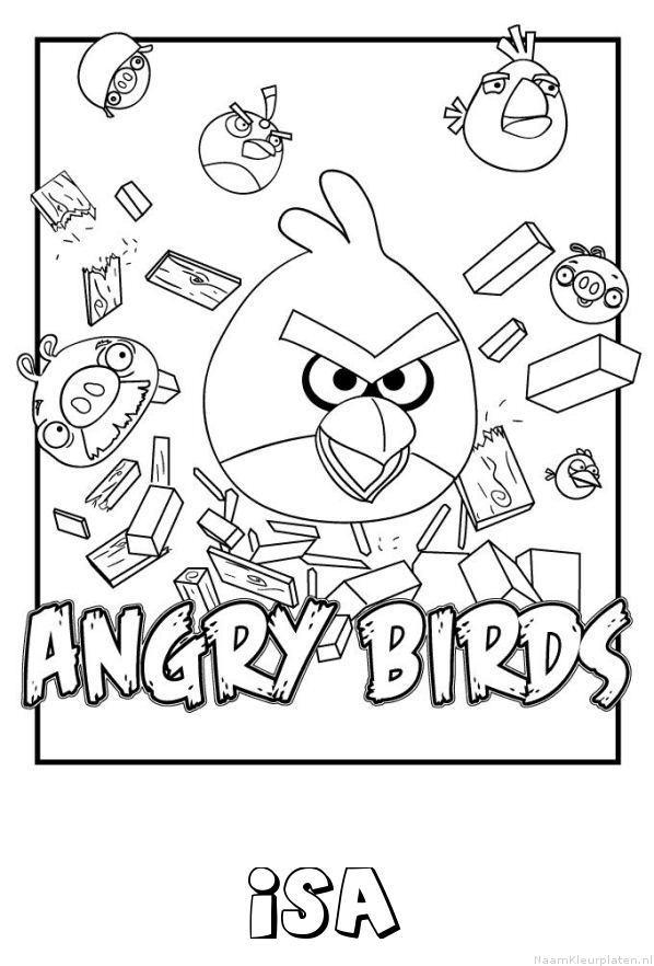 Isa angry birds kleurplaat