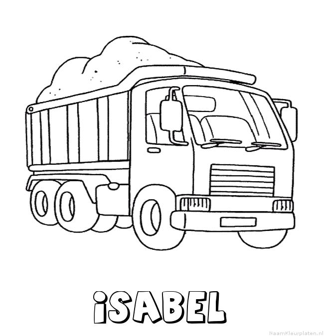 Isabel vrachtwagen kleurplaat