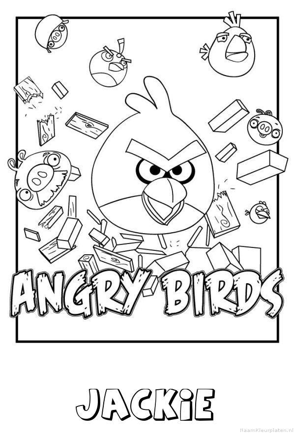 Jackie angry birds kleurplaat