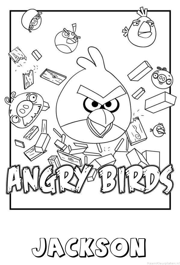 Jackson angry birds kleurplaat