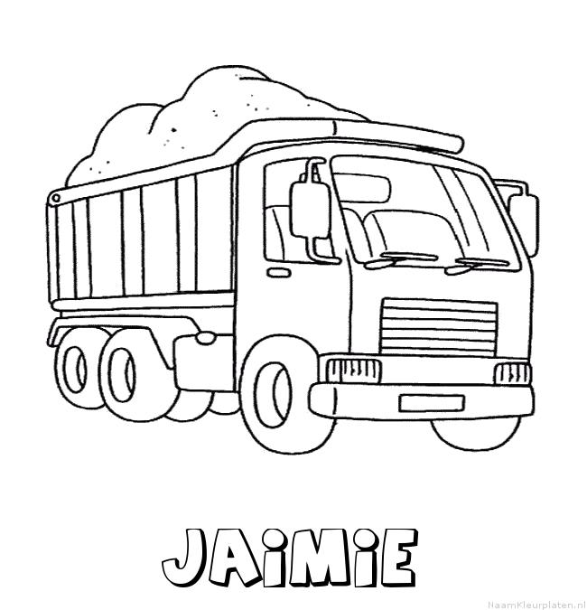 Jaimie vrachtwagen kleurplaat