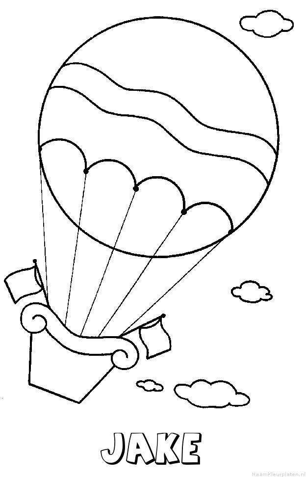 Jake luchtballon kleurplaat