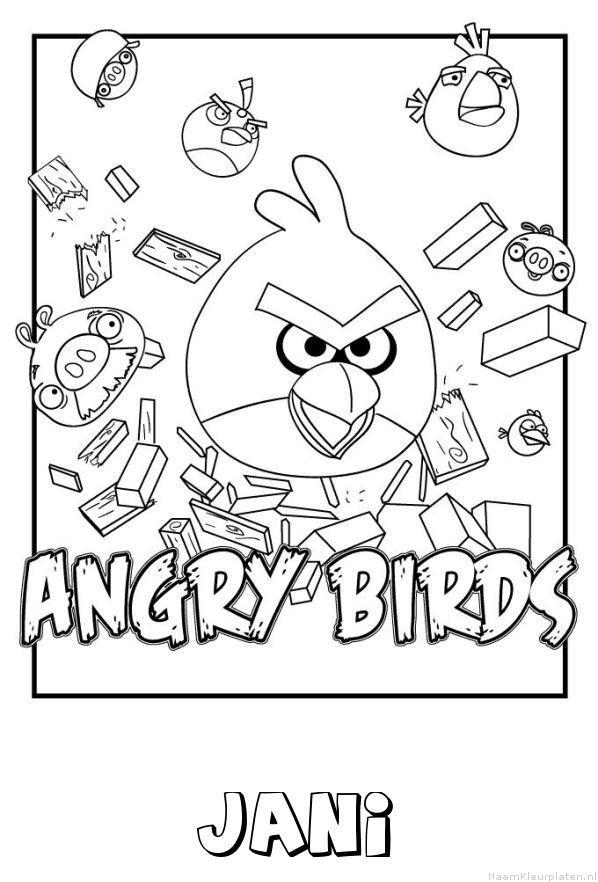 Jani angry birds kleurplaat