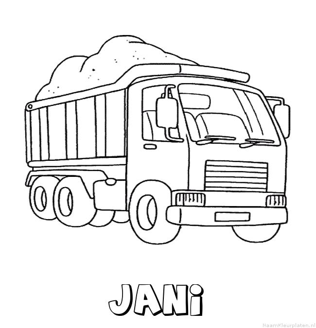 Jani vrachtwagen kleurplaat