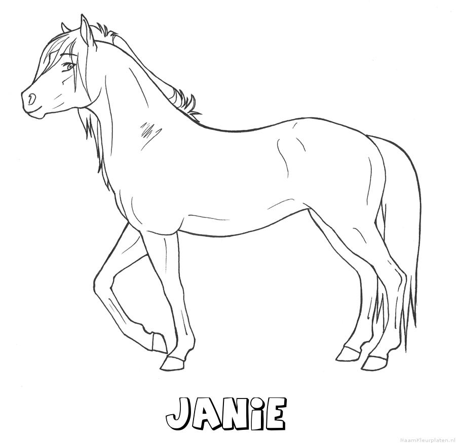 Janie paard kleurplaat