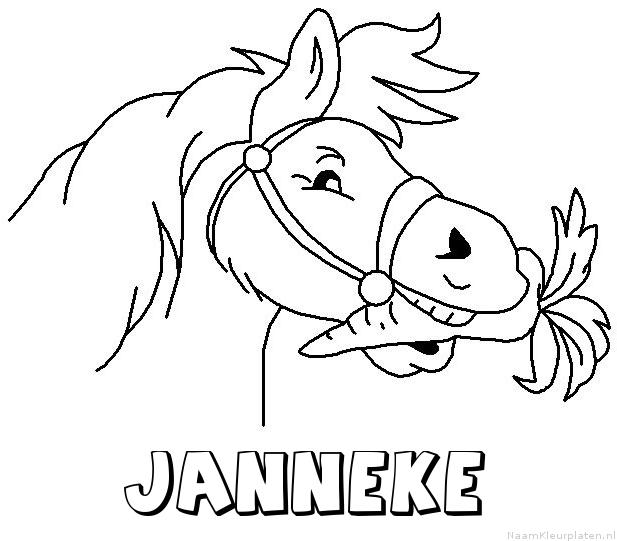 Janneke paard van sinterklaas kleurplaat
