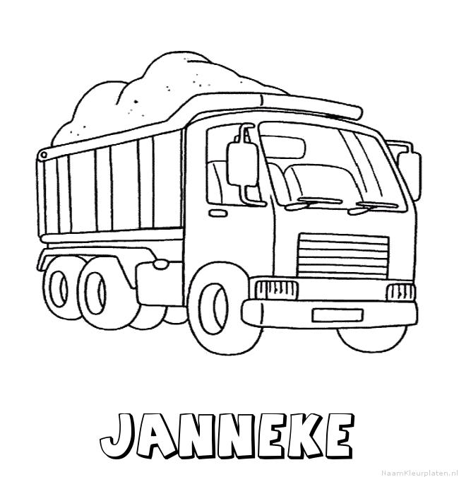 Janneke vrachtwagen kleurplaat