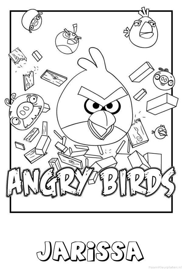Jarissa angry birds kleurplaat