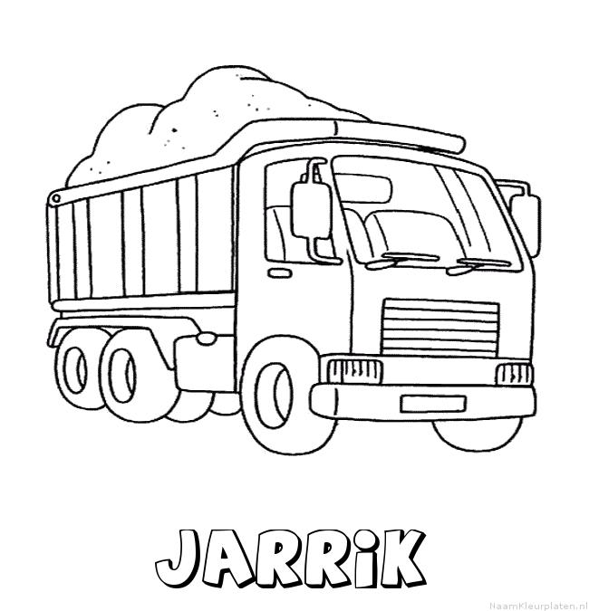 Jarrik vrachtwagen kleurplaat