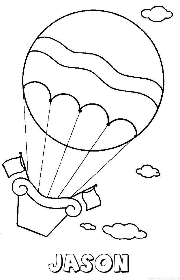 Jason luchtballon kleurplaat