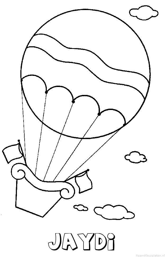 Jaydi luchtballon kleurplaat