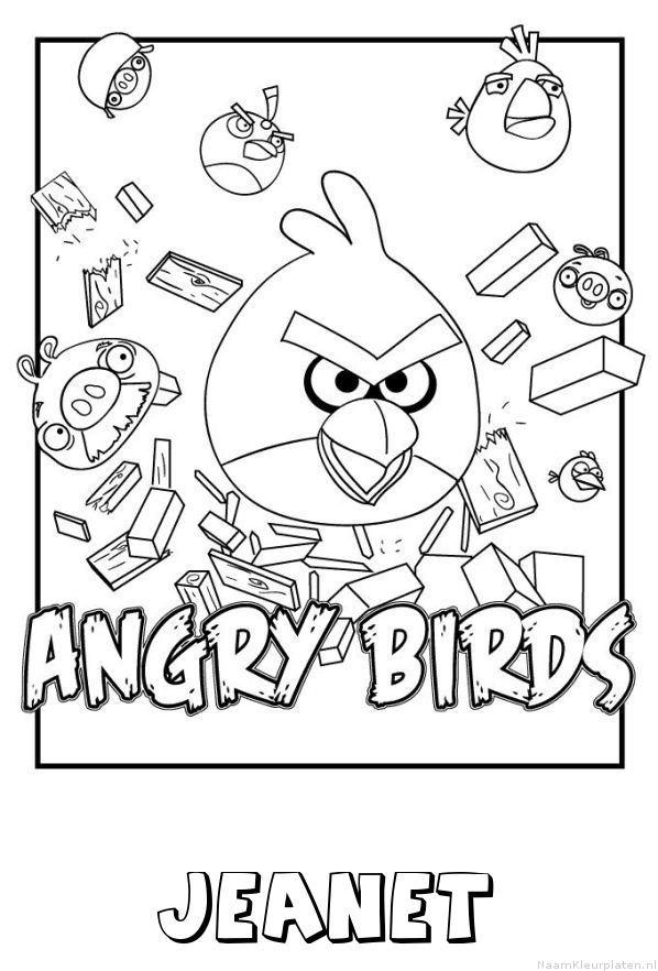 Jeanet angry birds kleurplaat