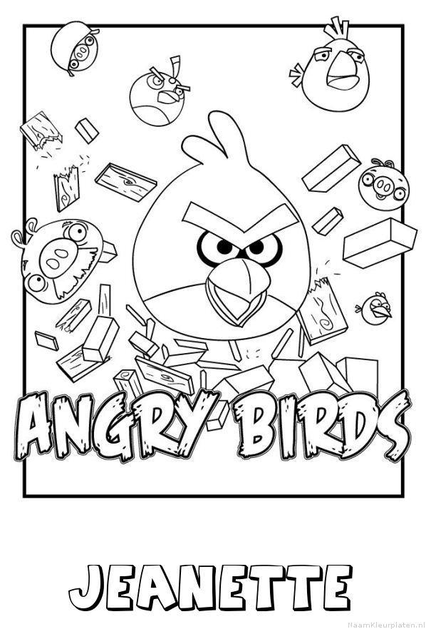Jeanette angry birds kleurplaat