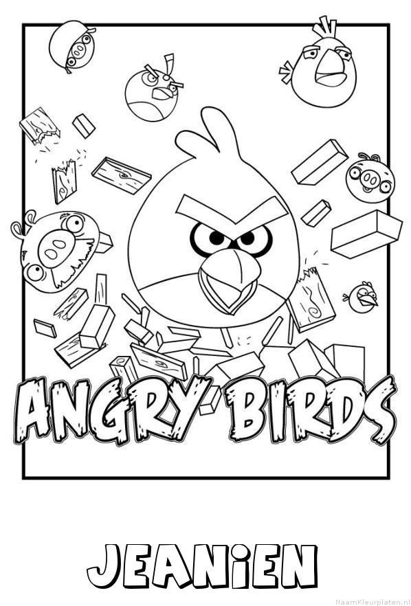 Jeanien angry birds kleurplaat