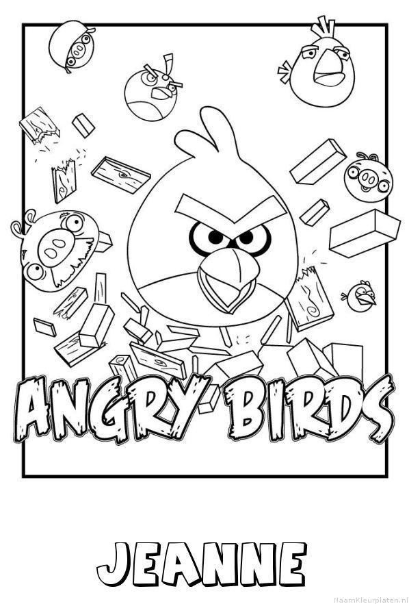 Jeanne angry birds kleurplaat